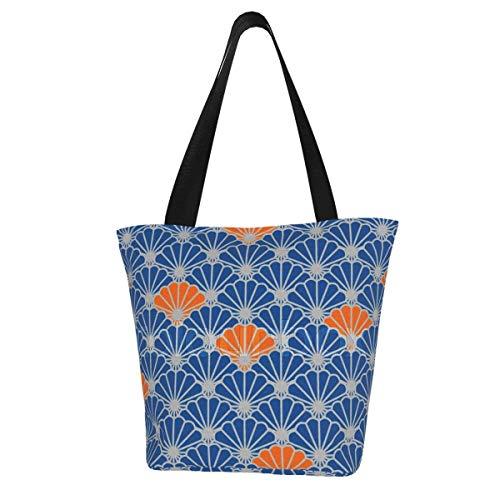 Bolsa de lona personalizada, diseño de abanico, sin costuras, lavable, bolsa de...