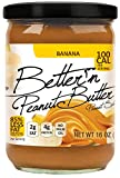 Pack of 6, Better'n Peanut Butter, Banana Peanut Spread, Low Fat and Gluten Free, 16 Ounces