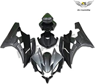 NT FAIRING Glossy Grey Black Injection Mold Fairing Fit for Yamaha 2006 2007 YZF R6 New Painted Kit ABS Plastic Motorcycle Bodywork Aftermarket