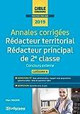 Annales corrigées Rédacteur territorial & Rédacteur principal de 2e classe - Concours externe, catégorie B