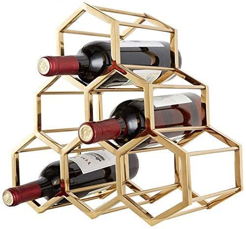 COLiJOL Alenamiento de Vino Estante de Vino de Acero Inoxidable Restaurante Finca de Vino Decoraciones de Muebles para el Hogar Artesanías Creativas Estante de Botella de Vino Restaurante Estante de