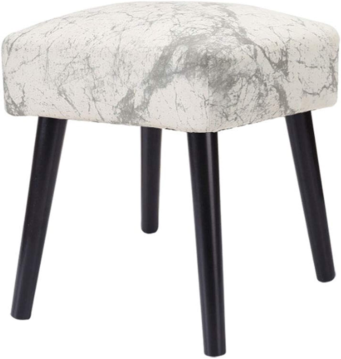 ZXW STOOLS- Solid Wood Stool Fabric Sofa Bench for shoes Bench (color   Marble, Size   32x32x40cm)