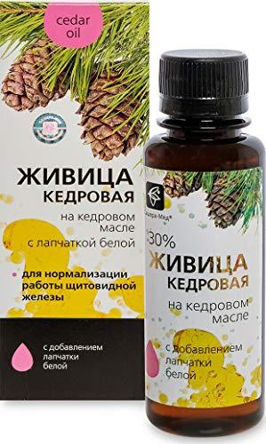 Cederhars met witte vingerkruid en koudgeperste pure cederolie 100 ml