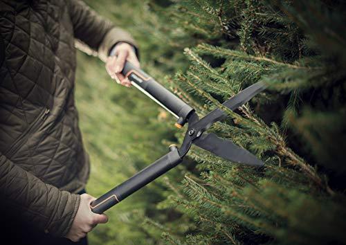 Fiskars Cesoie per siepi SingleStep, Lame ondulate in acciaio di alta qualità, Lunghezza: 58 cm, Nero opaco, HS22, 1001433