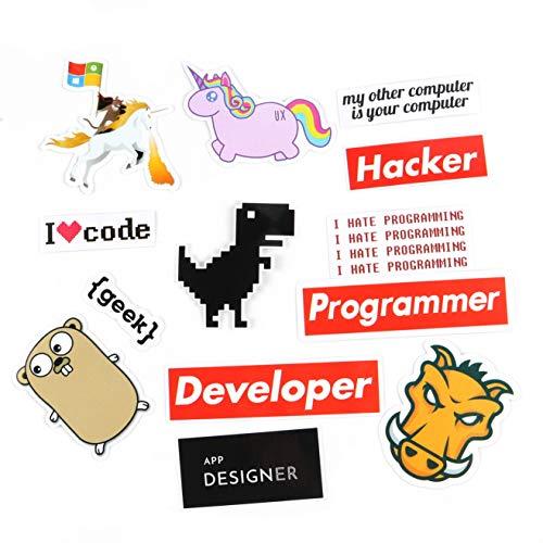 Hacker, lustige Aufkleber, 100 Stück/Packung für Handyhülle, Laptop, Hydroflaschen, ntag215 NFC, Aufkleber für Entwickler, Geek