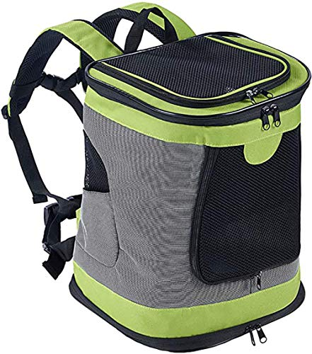 ESSEASON 123Padded Fabric Pet Dog Puppy Cat Backpack Rucksack Carrier Bag,green