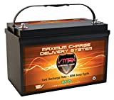 VMAXTANKS SLR125 Solar Battery 12 Volt 125Ah Group 31 Battery for Solar Wind Sump Pump Emergency Backup Generators and  PV panels