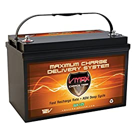 Vmaxtanks vmaxslr125 agm 12v 125ah sla rechargeable deep cycle battery for use with pv solar panels smart chargers, wind turbines and inverters and backup power (12 volt 125ah group 31 agm) 1 12 volt 125ah group 31 agm deep cycle heavy duty battery military grade custom made plates float service life span of 8 to 10 years