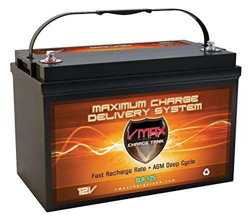 Vmaxtanks Vmaxslr125 AGM Deep Cycle 12v 125ah SLA rechargeable Battery for Use with Pv Solar Panels,Smart chargers wind...