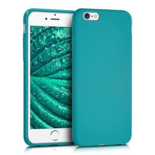 kwmobile Cover Compatibile con Apple iPhone 6 / 6S - Cover Custodia in Silicone TPU - Backcover Protezione Posteriore - Petrolio Matt