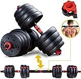 Sportstech 2in1 innovatives Hantel Set AH150 | Kurzhanteln & Langhanteln | Hanteln im 20kg, 30kg,...