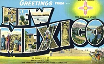 Greetings from, New Mexico Postcard
