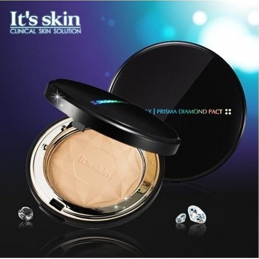 文明化幼児クリップ蝶IKKO_Its skin(イッツ スキン) プリズマ ダイヤモンド パクト SPF25 PA++ ライトベージュ