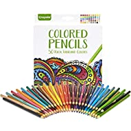 Crayola Colored Pencils, Adult Coloring, Fun At Home Activities, 50 Count, Multicolor