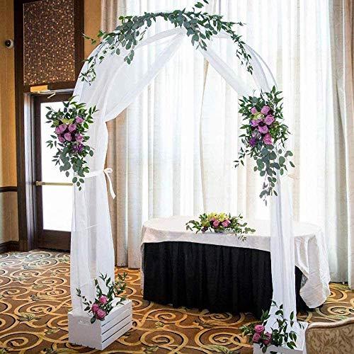 Metal Arco Jardín Estilo Rústico Arco para Rosas 140x230x40cm Arco de Rosas Decoración Fiesta de Boda para Plantas Soporte Rosas Escalada Archway Jardín Decoración Fácil de Instalar