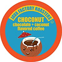 Java Factory Single Cup Coffee for Keurig K Cup Brewers, Choconut, 40 Count