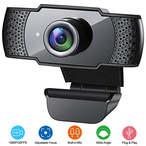 Webcam with Microphone, 1080P HD...