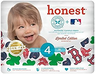 The Honest Co.Diaper Size 4 (22-37 lbs.) 29/pk Limited Edition Redsox Print