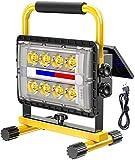 MFLASMF LED Außenleuchten 200W Solar LED Arbeitsleuchte wiederaufladbar |IP 65 Wasserdichter...
