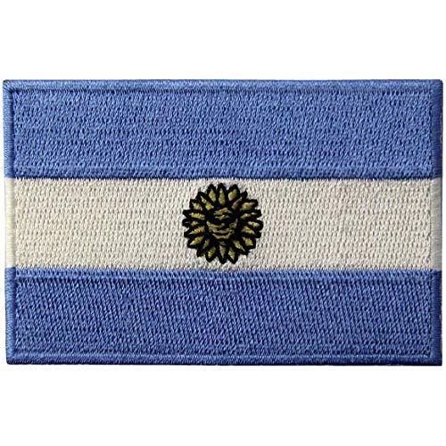 Bandera Argentina Parche Bordado de Aplicación con Plancha