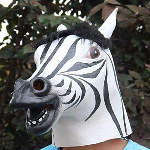 Best Prices! LAOHAO Halloween Decoration Horse Head mask Animal Costume Toy Party Funny Funny Hallow...