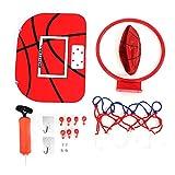Dilwe Mini Juego de Baloncesto Ajustable Aro Montado en Pared Juguete de Baloncesto con Bomba de Suspensin Instalacin de Accesorios (Gancho Adhesivo)