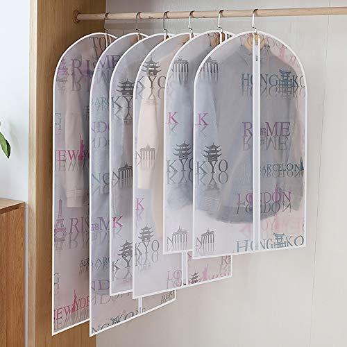 QFFL Sac de compression sous vide Housse de protection, housse anti-poussière pour le costume de poche à suspendre translucide de ménage (6 paquets par paquet) Sac de protection (Couleur : A)