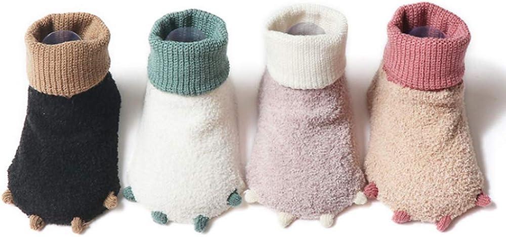 FOOTOF Cute Animal Warm Soft Baby Socks for Fun Set 4 Pairs