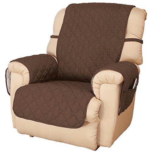 OakRidge Deluxe Microfiber Recliner Chair Cover, Chocolate