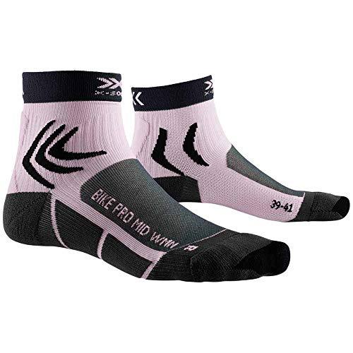 X-Socks Bike Pro Women Socks, Mujer, Charcoal/Magnolia Purpl