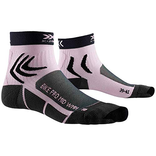 X-Socks Bike Pro Women Socks, Mujer, Charcoal/Magnolia Purple, 35-36