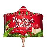 Alecony Baumwolle Kuscheldecke Kinderdecke für Kinder Jungen Mädchen, Weihnachten Weihnachtsmann Therapiedecke Babydecke, Krabbeldecke Fleecedecke Schal für Babyschale Kinderwagen, 130x150 cm (B)
