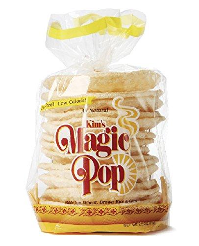 Kim's Magic Pop Freshly Popped Rice Cakes | Keto, Vegan | Original Flavor | 12 Pack | Low Carb, Sugar Free, Fat Free, Natural, Multigrain Korean Snack | Easy Bread, Chip, Cracker Replacement