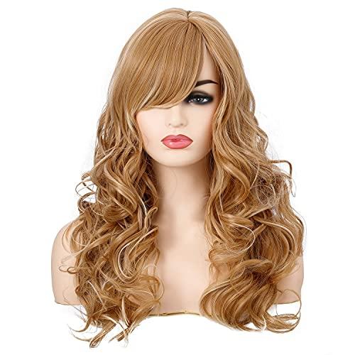 Hoods de Cheveux Longs bouclés Femmes Perruques de Fibres Chimiques.