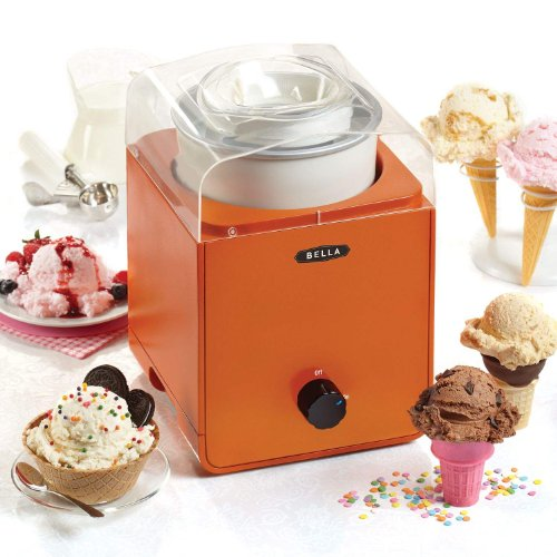 Bella 1.5 QT Ice Cream Maker - Orange