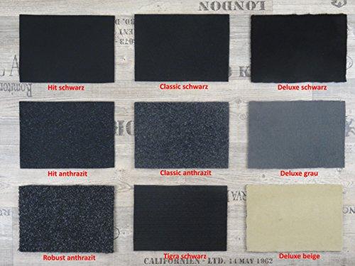 Alpha-Tex Autoteppich Meterware zur Auskleidung oder als Kofferraumteppich in beliebiger Größe - selbst zuschneidbar, Qualität Hit schwarz (1m x 2m Breite)