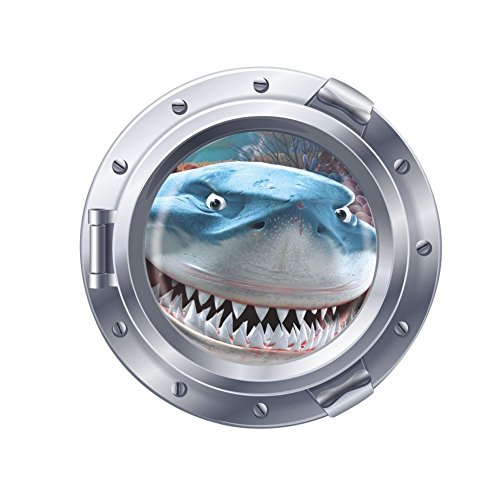 Clest F&H Submarine Marine Animals Shark Wall Stickers & Murals Wall Decals Wallpaper Removable Wall Decor Decorative 43cm*43cm