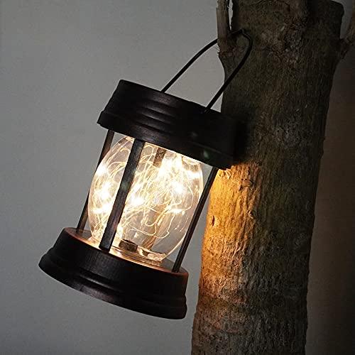 Luces solares, faroles solares al Aire Libre a Prueba de Agua LED, Luces de jardín, Luces Colgantes para Exterior, Boda, Fiesta, Bar, jardín, Navidad, Mesa, árbol