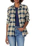 Dickies Women's Long-Sleeve Flannel Shirt, Ink Navy Plaid, Medium