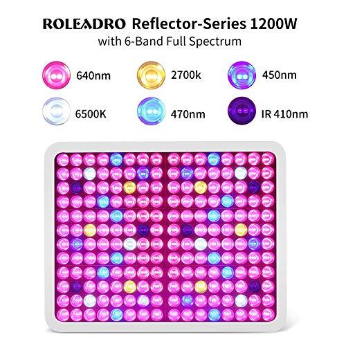 Roleadro Lampe de culture LED 1500W pour plantes d'intérieur et plantes Hydroponique Grow Box Culture
