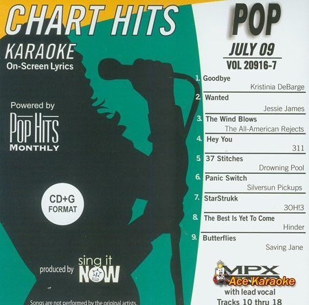 Pop Hits Monthly Pop Karaoke Music CDG - July 2009 by Kristinia DeBarge, Jessie James, The All-American Rejects, 311, Drowning Pool, S (0100-01-01)