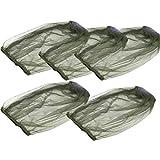 Abaodam, 5 cappucci anti-zanzara per la prevenzione degli insetti, protezione portatile, resistente, per il viso e il collo, per il campeggio all'aperto (verde)
