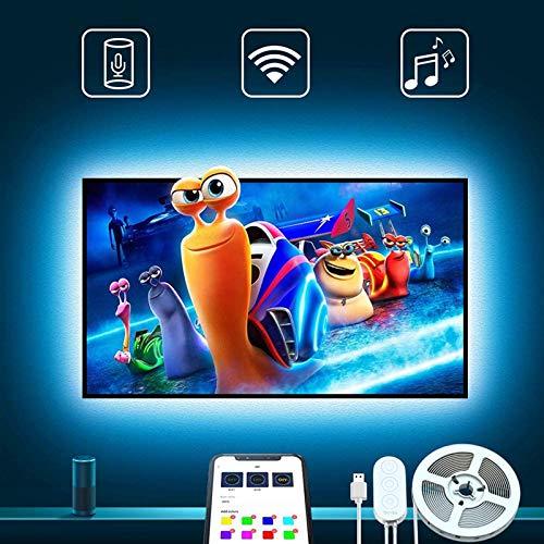 Govee LED TV Hintergrundbeleuchtung, für 46-60 Zoll Fernseher und PC, APP-Steuerung, kompatibel mit Alexa & Google Assistant, RGB, USB betrieben (nur unterstützt 2.4 GHz WiFi)