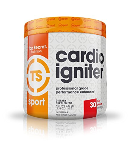 Top Secret Nutrition Cardio Igniter Pre-workout Supplement with Beta-alanine, L-Carnitine, and Red Beet Extract, 6.35 oz. (180g), (30 Servings) Fruit Punch
