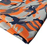 """ZAIONE Camouflage Military Army Printed Dacron Fabric Pre Cut By the Yard Width 58"""" Camo Prints Polyester Tabby Fabric Garment Material Table Top Upholstery Bag Quilting Sewing Patchwork DIY Craft (Orange)"""