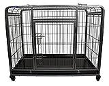 The Pet Store Premium Dog Crate with Lockable, Removable Nylon Wheels, Medium