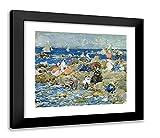 ArtDirect Prendergast, Maurice 23x20 Black Modern Framed Art Print Titled: Holiday in Nahant
