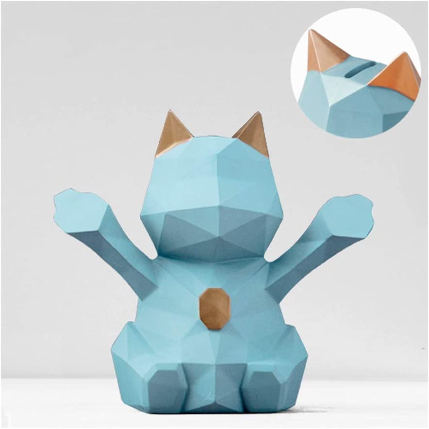 Piggy Safety and trust Award Bank Geometric Three-Dimensional Cat Lucky Hand