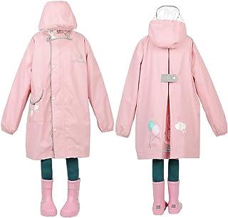 レインコート女の子 男の子 キッズ バイザー付き raincoat 子供用 防水 カッパ リュック 対応 通学 雨具 携帯ポーチ 付き