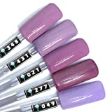 Color Gel 5er Set (je 5ml): Lilac - Kollektion - Gel Lila, Gel Dunkellila, Colorgel Lila - umrühren unnötig ! Für UV & LED, Made in Germany